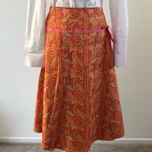A.M.I. Paisly Skirt Size 10